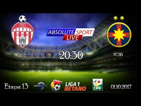 LIVE Sepsi OSK - FCSB(Steaua Bucuresti) - Etapa 13 - Liga 1 - 01/10/2017
