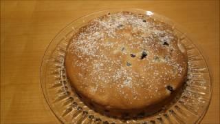 Пирог из голубики. Вкусно!