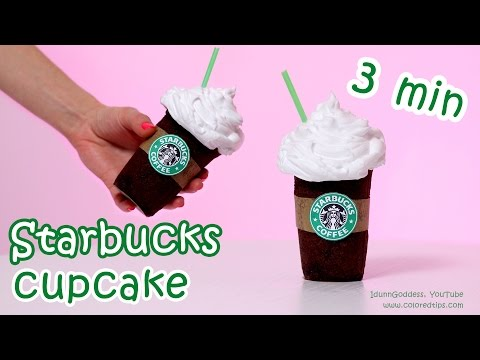 DIY 3 minutes Starbucks Cupcake In Microwave With Marshmallow Icing (frosting) – easy recipe