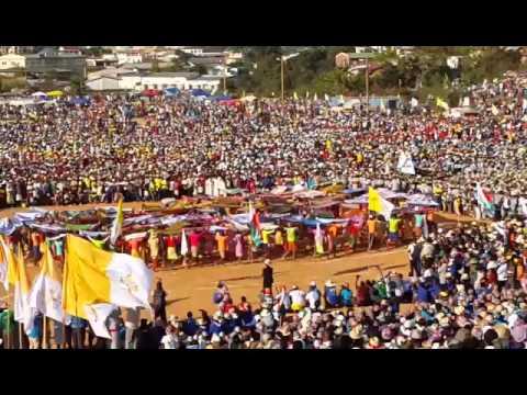Une partie d'ouverture JMJ MADA 8 à Fianarantsoa