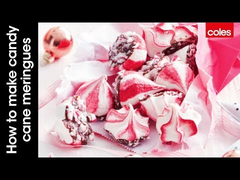How to make candy cane meringues