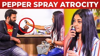 Ratsasan AMMU tries PEPPER SPRAY on VJ Ashiq | Ratsasan Ammu's FUN Segment |