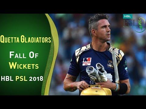 Quetta Gladiators Fall Of Wickets | Karachi Kings Vs Quetta Gladiators | Match 2 | HBL PSL 2018