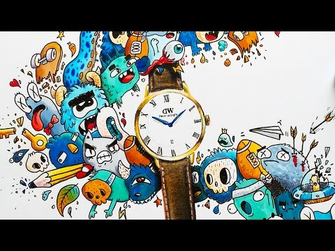 DOODLE COLLAB with Daniel Wellington | Timelapse Drawing