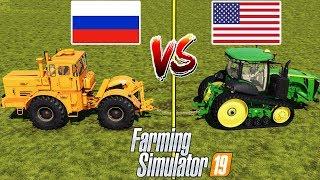 Farming Simulator 19 : TUG OF WAR !!! AMERICA vs RUSSIA :  Who Will Win?