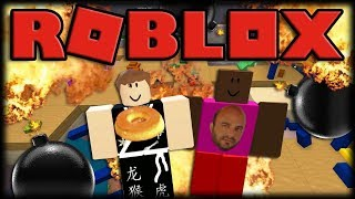 Playing Roblox-surviving bomb rain at Super Bomb Survival!!