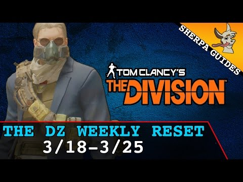 The Division DZ Weekly Reset 3/18 - 3/25 | Dark Zone Vendors