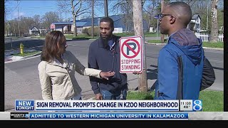 Street signs blamed for harassment removed