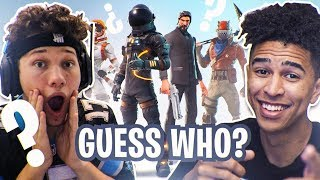 GUESS THAT FORTNITE SKIN! vs. JSR - Fortnite Battle Royale