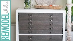 IKEA Hack Kallax Shelf to Flat File Cabinet + Drawers