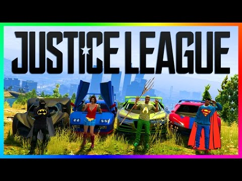 GTA ONLINE JUSTICE LEAGUE SUPERHEROS - BATMAN VS SUPERMAN, THE FLASH, WONDER WOMAN & MORE! (GTA 5)