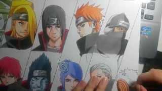 Speed Drawing - Akatsuki (Naruto)(Quer aprender a desenhar? Então clique aqui: http://bit.ly/quero-desenhar Imagem: http://i.imgur.com/wHbE5b3.jpg Música ..., 2015-04-03T03:32:22.000Z)