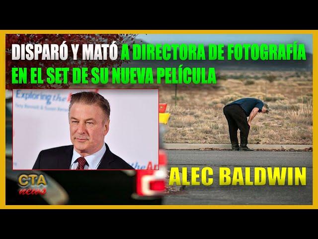 Actor ALEC BALDWIN dispara una pistola de fogueo en un rodaje y mata a la directora de fotografía