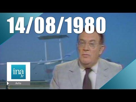 20h Antenne 2 du 14 août 1980 - Vol du 1er avion solaire | Archive INA