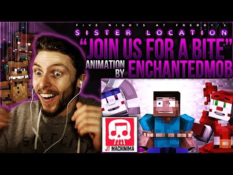 """Vapor Reacts #223 FNAF SISTER LOCATION SONG """"Join Us For A Bite"""" Animation by EnchantedMob REACTION!"""