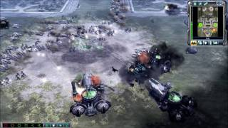 2v1 | GDI vs Brutal Scrin & Brutal Nod Skirmish | Command & Conquer 3: Tiberium Wars Gameplay