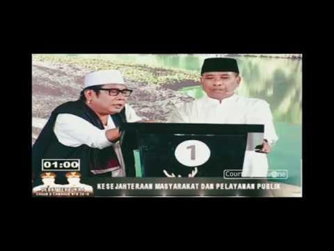 DEBAT PILGUB NTB 2018 JAWABAN SERU, KOCAK DAN CERDAS ALI BIN DAHLAN