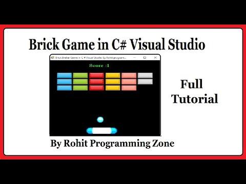 Brick Game In C# Visual Studio By Rohit Programming Zone