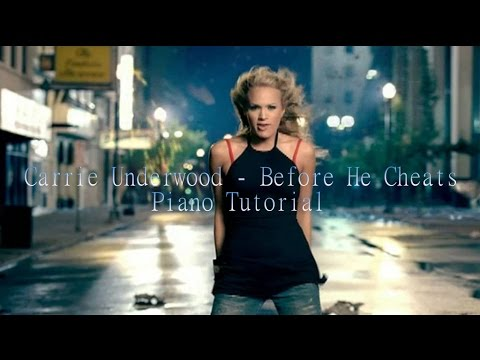 Carrie Underwood - Before He Cheats Piano Tutorial