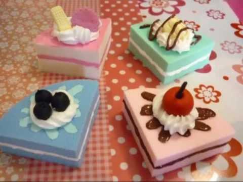 Diy Squishy Cake : Squishy cake slice tutorial - Fetta di torta squishy   - YouTube