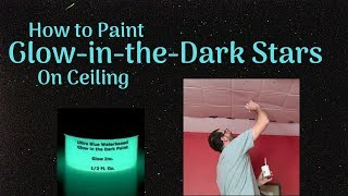 ACCURATELY PAINT GLOW-IN-THE-DARK STARS ON CEILING | Glow Inc Paint/Ursa Major Stencil