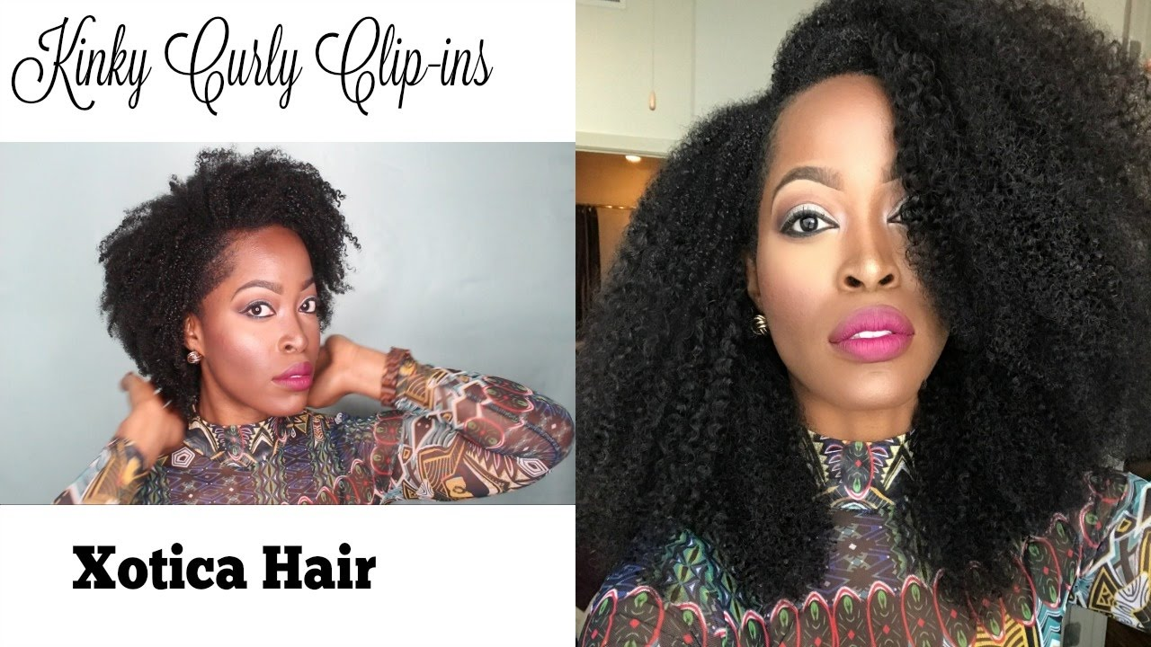 How To Style Kinky Curly Clip Ins Xotica Hair Low Pony Tail Low