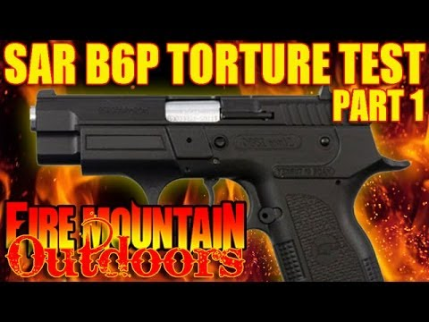 SAR ARMS B6P 9mm pistol from EAA - Torture Test!!