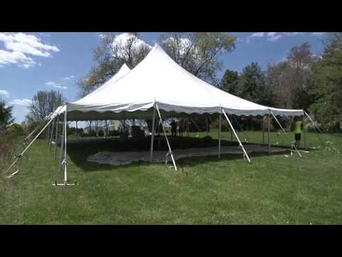 Pole Tent Setup - 40 x 60 Tent by Elite Tents and Events & Pole Tent Setup - 40 x 60 Tent by Elite Tents and Events - YouTube