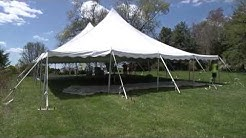 Pole Tent Setup - 40 x 60 Tent by Elite Tents and Events