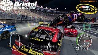 NASCAR'15 The Game: Bristol Motor Speedway Crash Compilation