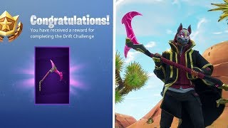 "How To Unlock SECRET ""Rift Edge"" Pickaxe in Fortnite! - NEW ""Drift"" SKIN Stage 4 Upgrades Challenge!"