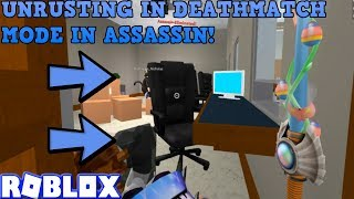 UNRUSTING SOME MORE IN DEATHMATCH! (ROBLOX ASSASSIN SPRING SABER GAMEPLAY)