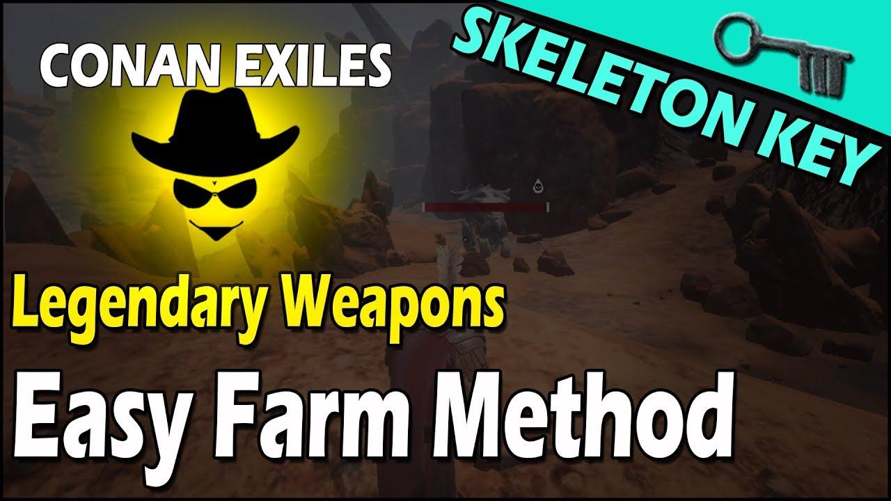 Legendary Weapons Easy Farm Method (skeleton key) - Conan Exiles
