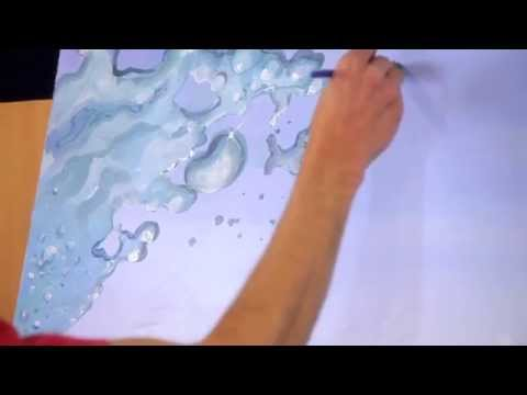 How to paint splashing water drops & bubbles