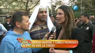 ¡Asi llegaban a Telefuturo, Sérgio Marone y Camila Rodrigues!
