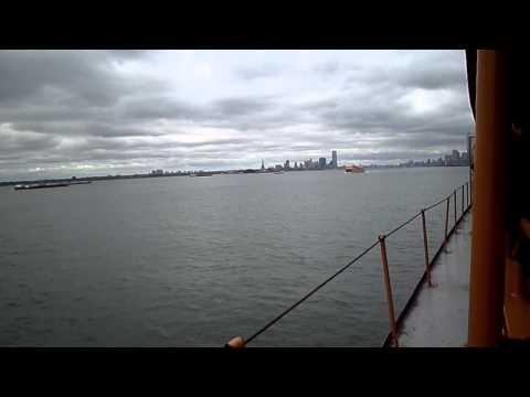 Staten Island Ferry overtocht naar Manhatten New York 2 oktober 2014