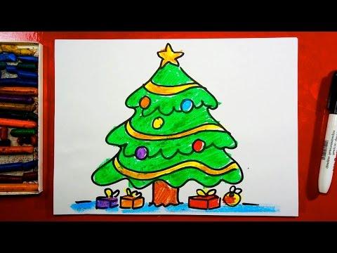 Как нарисовать на новый год открытку