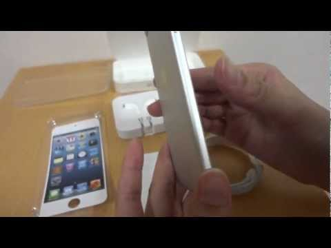 first-look-/-unboxing---apple-ipod-touch-5-(5th-gen)-64gb-silver-/-white-&-comparison-with-4th-gen