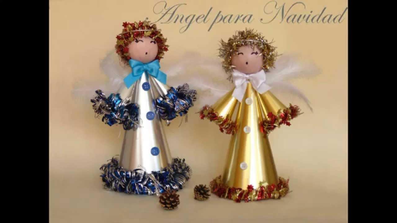 Hacer un angel para navidad youtube - Angeles de navidad manualidades ...
