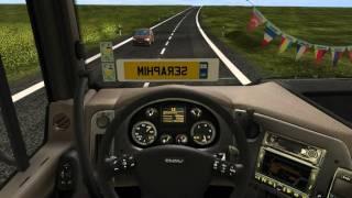 Gameplay German Truck Simulator - Romanian Roads map by Mirfi