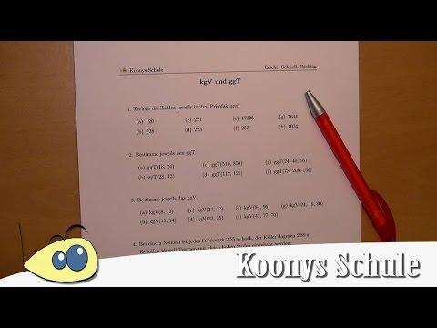 Intro   kgV und ggT - Arbeitsblatt 0010 - YouTube