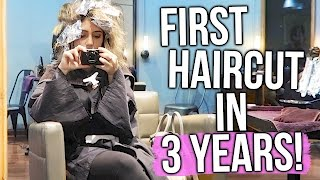 MY FIRST HAIRCUT IN 3 YEARS!