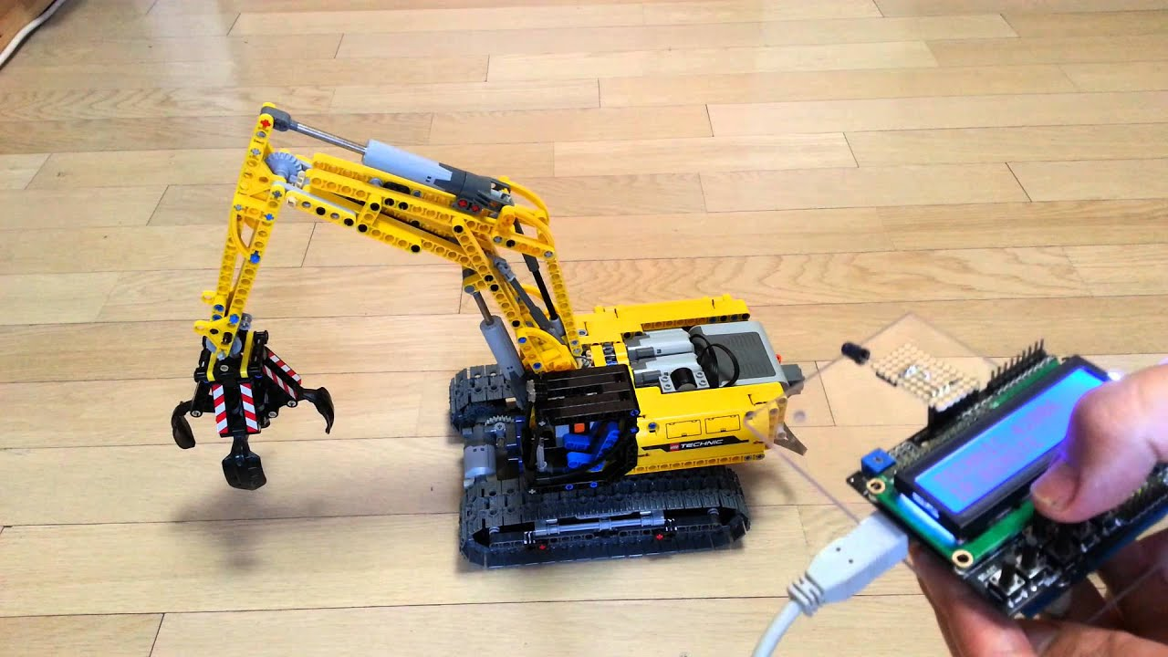 Lego technic controlled by arduino ir remote youtube