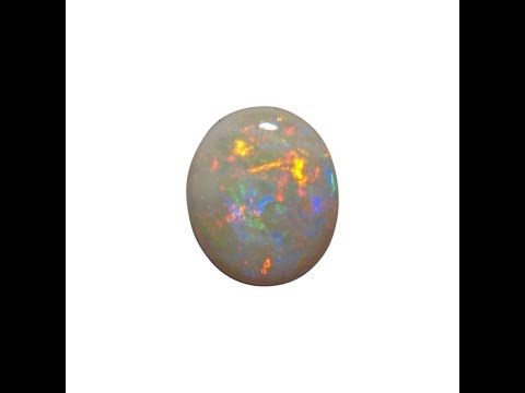 Large White Opal Stone with Red and Blue | FlashOpal