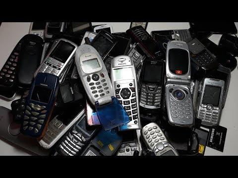 75 Телефонов из Германии за 25$ часть #2. nokia. lg. sharp. samsung. sony ericsson. sagem. siemens