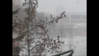 Skycam Downtown Regina, Saskatchewan - Winter Storm