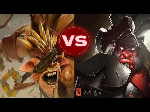 видео: dota 2 battle - axe vs bristleback (bristlebog) | Дота 2 Батл - Акс против Ежа