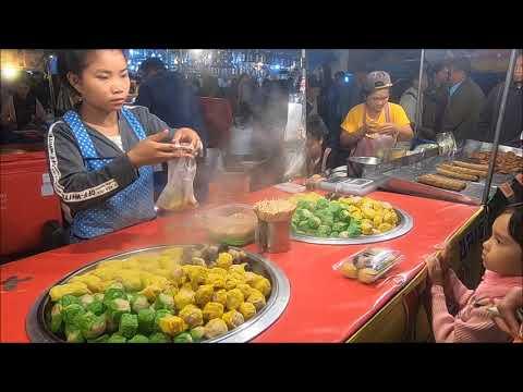 Asian street food on Ngan That phanom Festival - Asian Food 2018