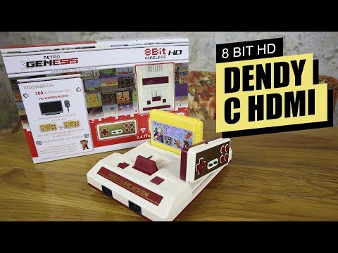Retro Genesis 8 Bit Wireless HD 300 игр / ОБЗОР ТЕСТ РАСПАКОВКА СРАВНЕНИЕ