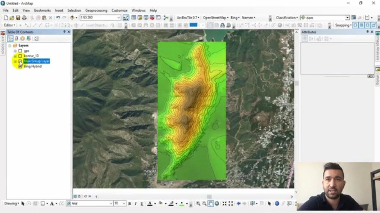 Google Sketch up Google Earth kullanarak topografya haritası olusturmak